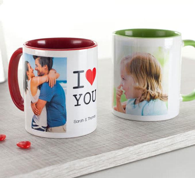 Personnalisation de mugs et choses personnalisées
